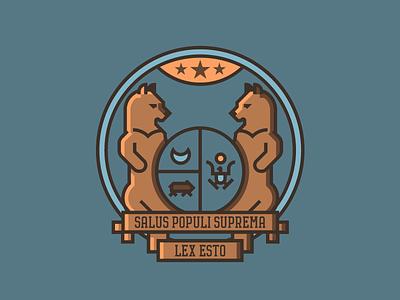 Missouri Crest (230/365) illustration line art badge flag state flag mo state crest stars bear crest missouri