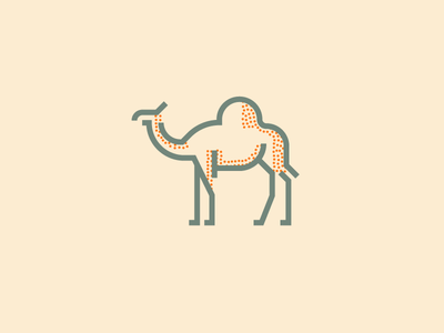 Camel (241/365) hump stippling stipple minimal line art illustration tan desert camel