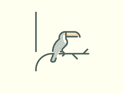 Toucan (242/365) beak tropical illustration minimal line art stippling stipple jungle bird toucan