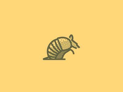 Armadillo (248/365) minimal line art armor stippling stipple illustration armadillo