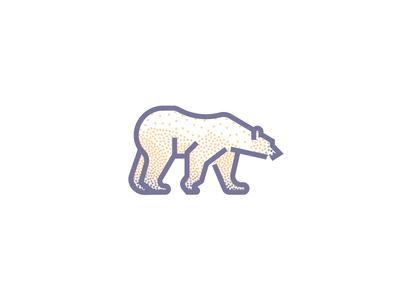 Polar Bear (249/365) white icon minimal line art stippling illustration snow ice antarctica winter polar bear