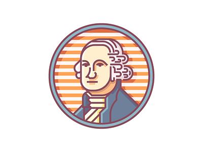 Washington Crest (268/365) state seal illustration line art badge flag state flag wa colonial founding father george crest washington