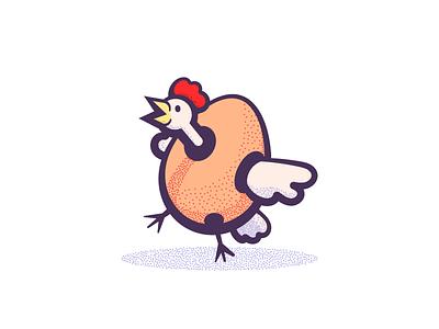 Egg (001/365) cluck wings stippling stipple illustration bird chicken egg