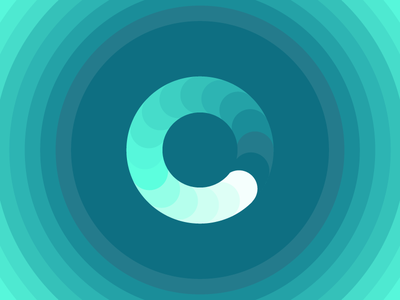 River (006/365) turquoise blue minimal circle water river gradient color