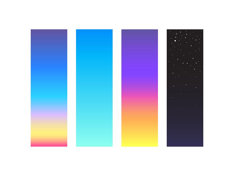 Sky (013/365) minimal gradients illustration sunrise sunset stars dark night dusk dawn sky