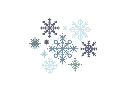 Snow (20/365) illustration stylized minimal frost cold line art geometric winter snowflakes snow