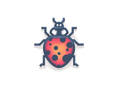 Design Revisit: Ladybug ladybird cute beetle illustrator insect bug photoshop illustration texture ladybug