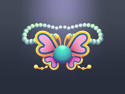 Joy Pendant wind waker treasure necklace jewelry wings pearls butterfly pendant joy nintendo link legend of zelda