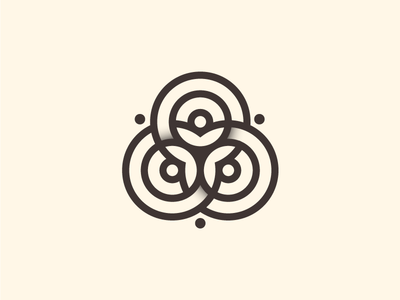 Spare Logo leaves celtic mark brand circles icon line art logos logo