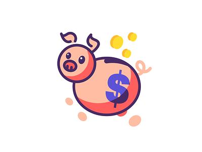 Piggybank save money piggy bank piggy vector line art illustration cash coin coins money pig piggybank