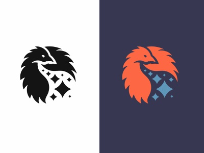 Rejected Mark: Phoenix Logo symbol gridding fire emblem mark logo bird logo eagle bird phoenix