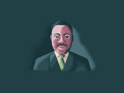 Martin Luther King jr retro supply texture portrait illustration mlk portrait martin luther king jr