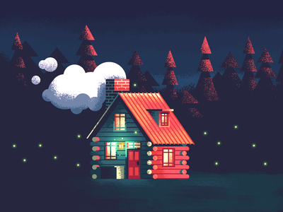 Cabin Home Revisit: Texture cozy building home house retrosupply illustration texture woodsmoke rustic forrest pine log cabin