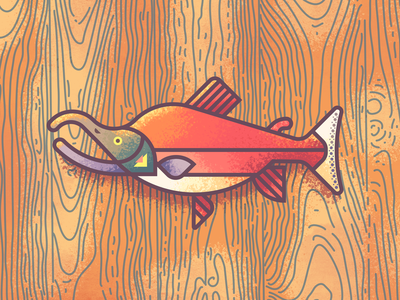 Sockeye Salmon Revisit: Texture retrosupplyco sockeye illustration texture trophy mount fish salmon