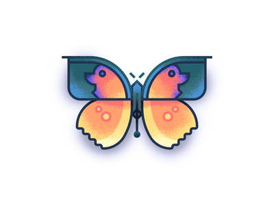 Dogface Butterfly retro supply insect illustration texture colorful butterfly