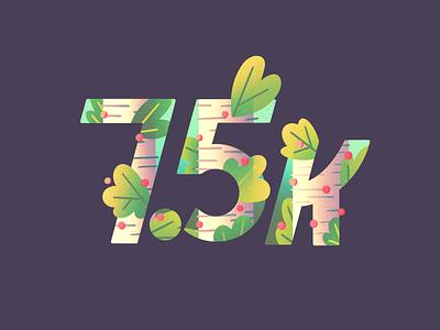 7500 Followers on Instagram instagram berries leaves tree lettering art birch trees type lettering