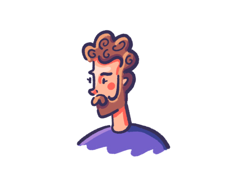 Scott Doodle beard man portrait retrosupply retrosupplyco procreate doodle