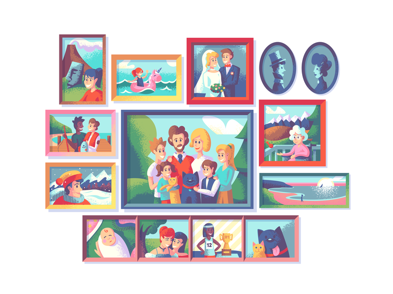 Justify: Family Portraits illustrations texture family tree family portrait photographs pictures frames retro supply photoshop illustrator illustration portraits portrait family