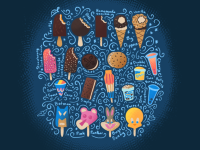 Freeze (Inktober Day 04) cookies n cream tweety bird bugs bunny batman procreate pink panther ice cream truck bomb pop blue bunny ice cream