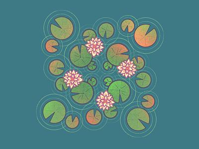 Lily Pads procreate artwork illustration lotus lilypad lilypads