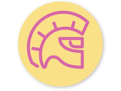 Warrior badge badge helmet gladiator warrior