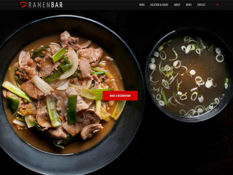 Ramenbar Website brand website