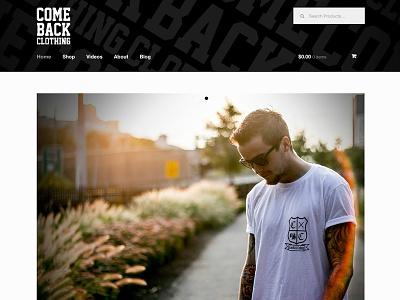 Comeback Clothing Website Design website clothing
