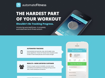 automateFitness ui mobile logo brand website
