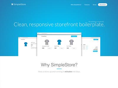 SimpleStore Landing Page open source website