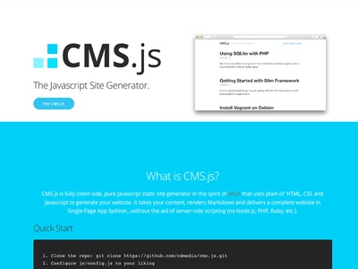 CMS.js Landing Page opensource website
