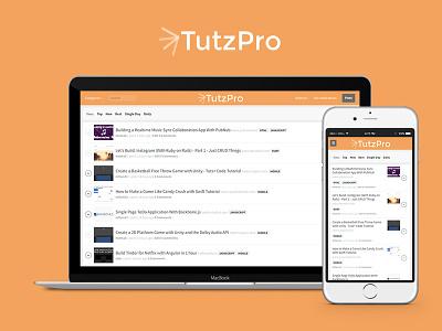 TutzPro mobile ui