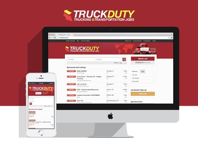 TruckDuty website brand ui mobile