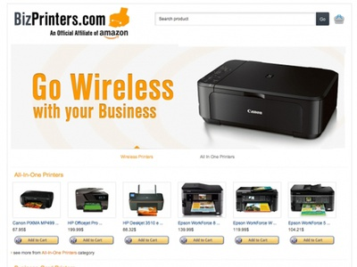 BizPrinters.com website