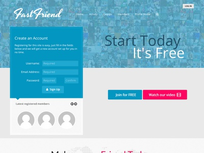 FastFriend logo website