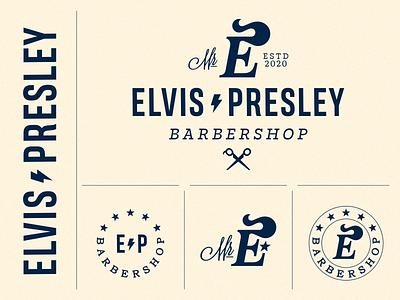 Elvis Presley barbershop elvis lettering letter monogram mark logodesign symbol logotype sign logo