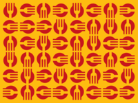 cookvel pattern cooking cook fork logo icon sign pattern
