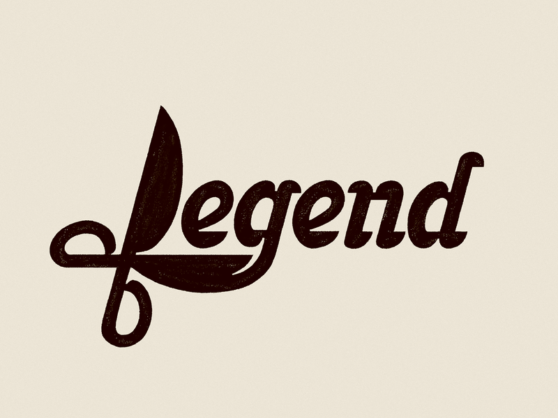 Legend - sketch typogaphy lettering logodesign logotype logo scissors hair shave barbershop