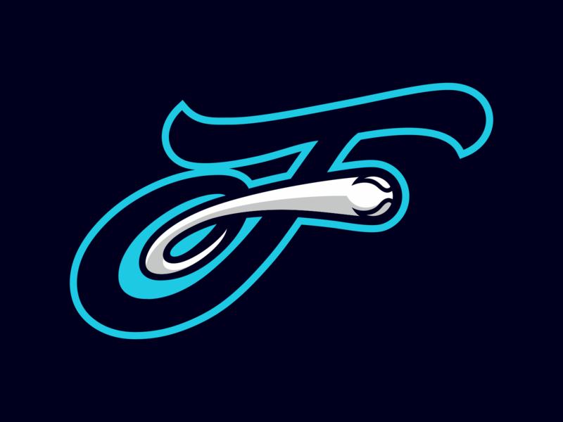 F - flying ball letter logodesign logotype logo ball f