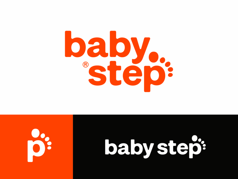baby step children kids baby step letters lettering letter logodesign logotype sign icon logo