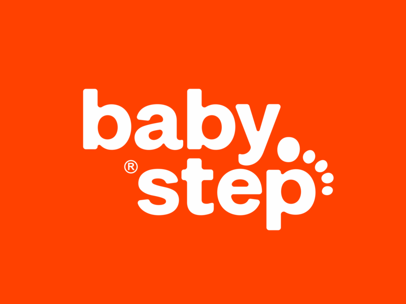 baby step children kids letters lettering letter logodesign logotype sign icon logo step baby