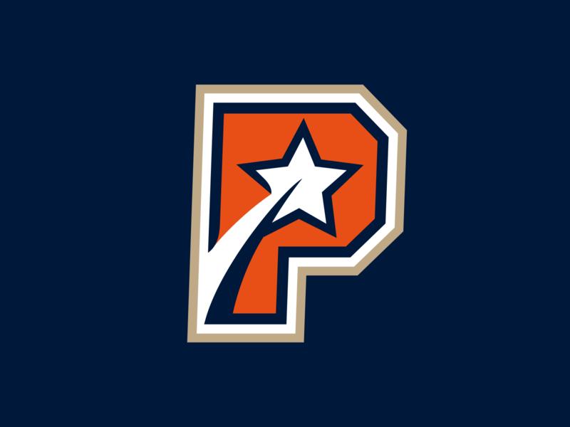 P - star sport emblem letter logodesign sign logotype icon logo star p