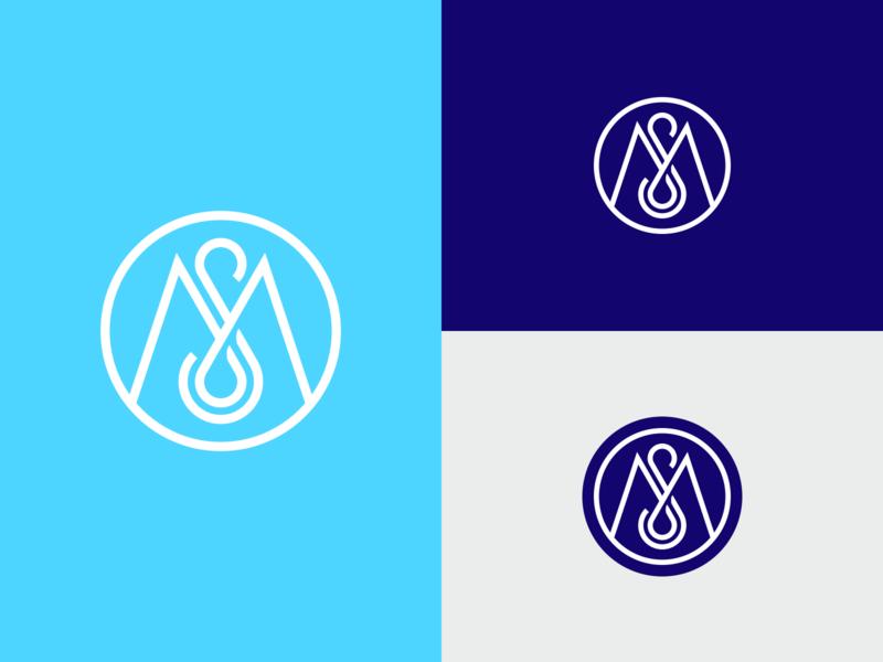 MS monogram concept letters symbol logodesign logotype sign icon logo monogram ms