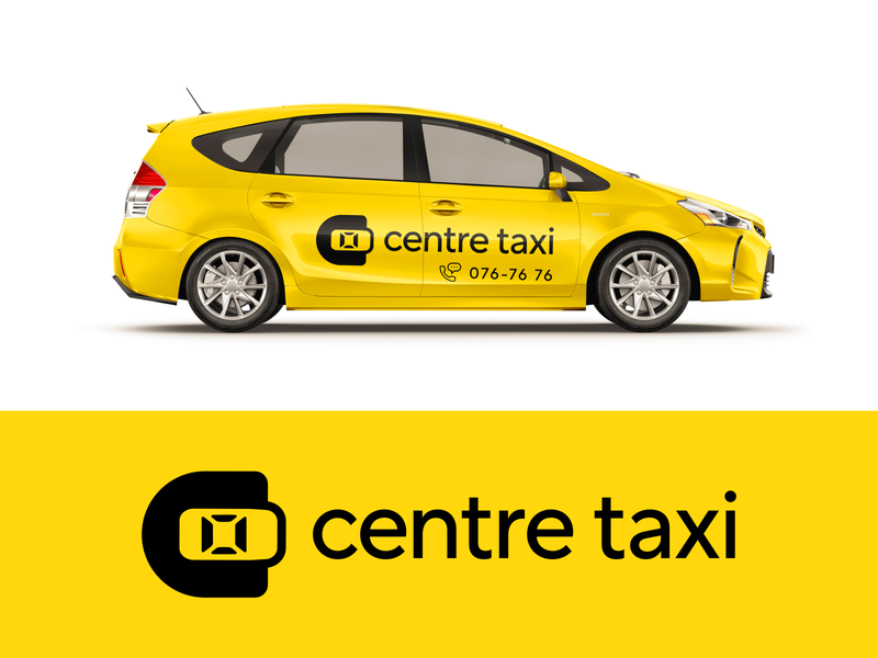 centre taxi car delivery monogram symbol letter logodesign logotype sign icon logo centre taxi c
