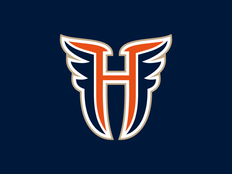 H - wings letter monogram symbol logodesign logotype sign icon logo sport wings wing