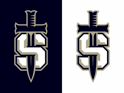 S - Sword sport emblem letter monogram symbol logodesign logotype sign icon logo sword s