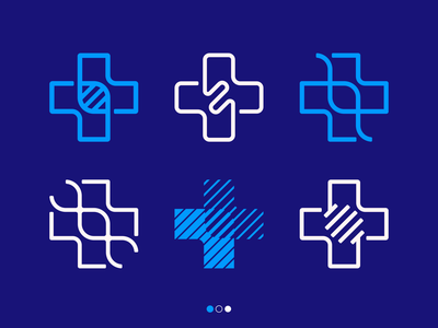cross + genetic medical plus doctor life logodesign logotype sign icon logo cross