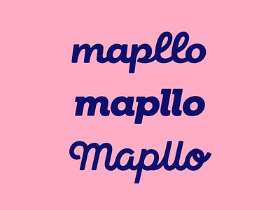 Mapllo font typeface type lettering logodesign logotype logo