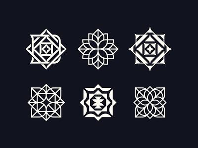 Dekart icons flower letter symbol logodesign logotype sign icon logo