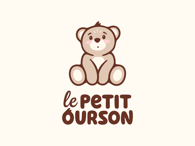 le PETIT OURSON cute bear illustration lettering logodesign logotype sign icon logo