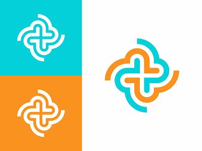 Сareproducts heart life plus doctor medical cross monogram logodesign logotype sign icon logo